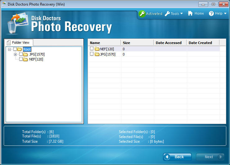 Hasil proses pembacaan Disk Doctors