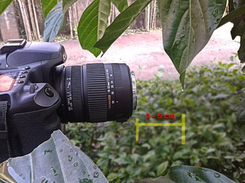 jarak fokus lensa ke target