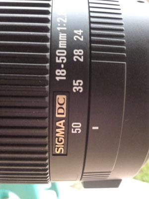 set Focal Length ke 50mm